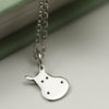Handmade Sterling Silver Hippo Necklace