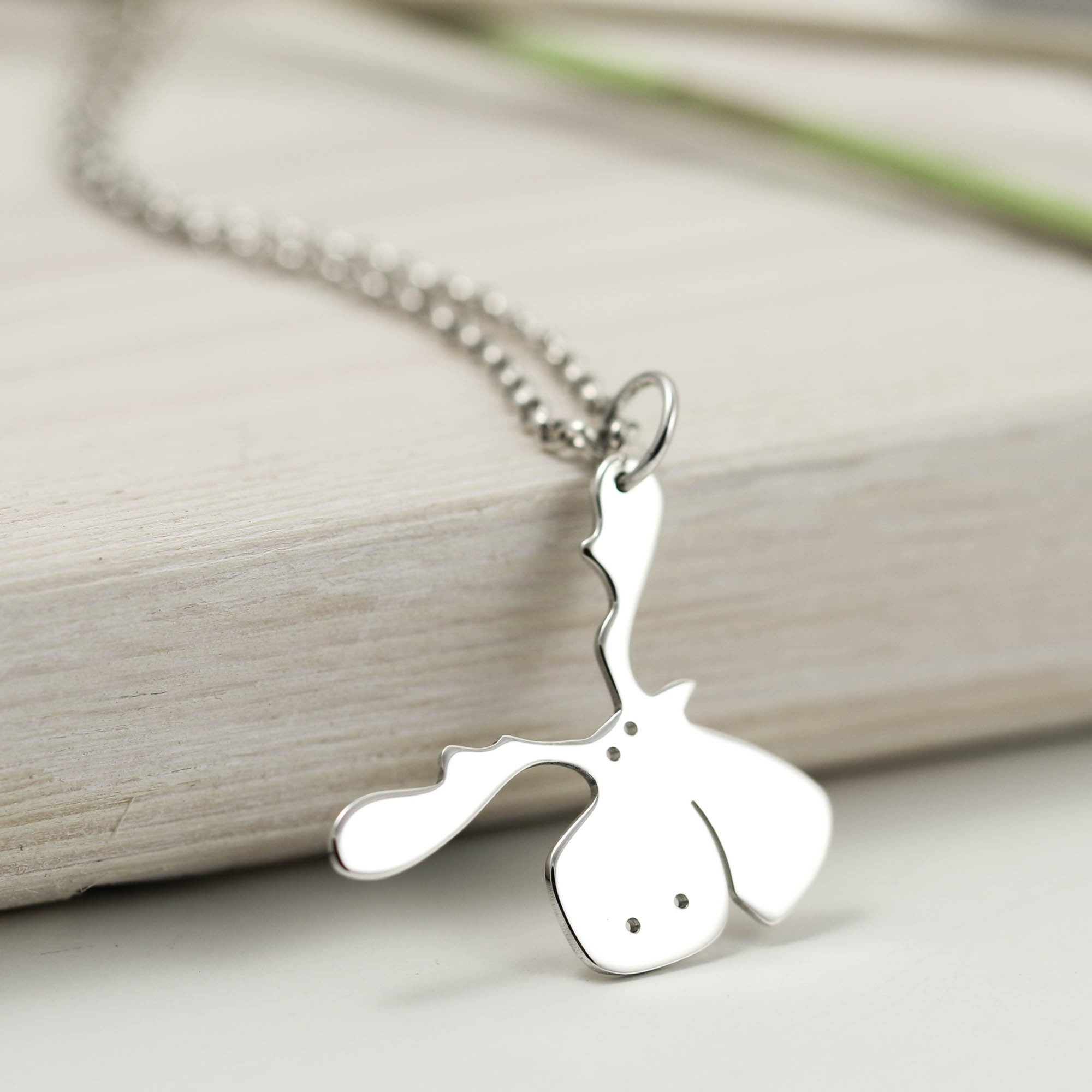 Sterling silver moose necklace jewellery furkeeps handmade sterling silver moose necklace aloadofball Images