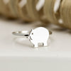 Sterling Silver Piggy Ring