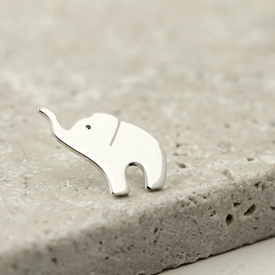 Sterling Silver Baby Elephant Pin