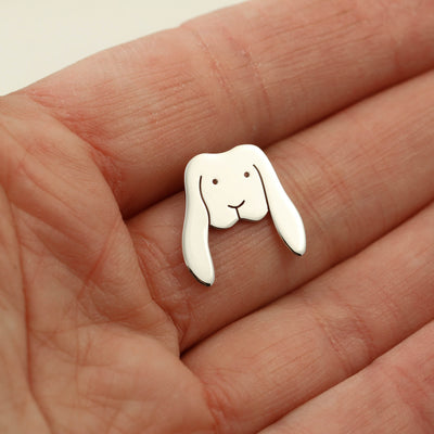 Sterling Silver Lop Bunny Pin