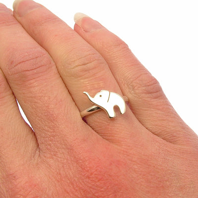 Sterling Silver Baby Elephant Ring