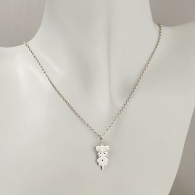 Sterling Silver Schnauzer Necklace