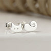 Cat & Tail Stud Earrings