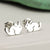 Sterling Silver Chinchilla Stud Earrings