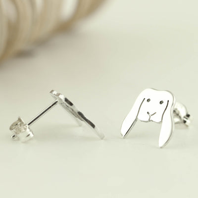 Sterling Silver Lop Eared Bunny Earrings