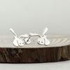 Sterling Silver Moose Earrings