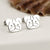 Sterling Silver Pug Stud Earrings
