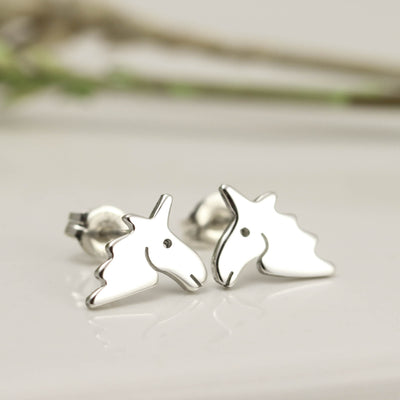 Handmade Sterling Silver Unicorn Earrings