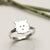 Sterling Silver Westie Dog Ring