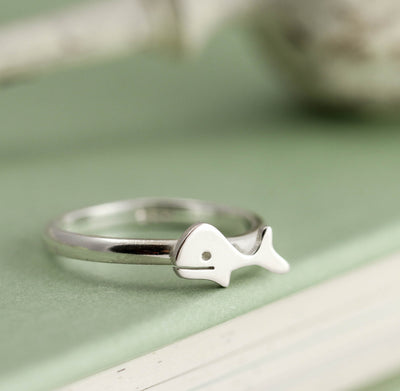 Handmade Sterling Silver Whale Ring