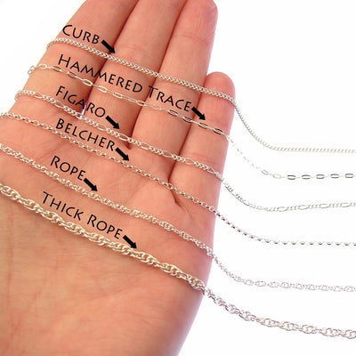 Sterling Silver Bracelet Chains