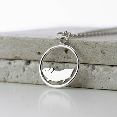 Sterling Silver Hamster Necklace
