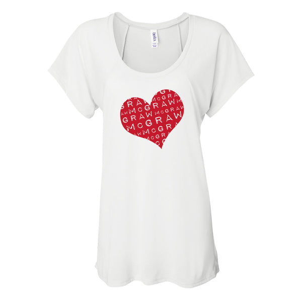 McGraw Heart Ladies Raglan T-Shirt