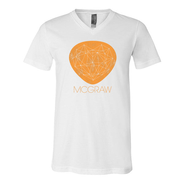 MCGRAW V-Neck Tee (Orange Logo)