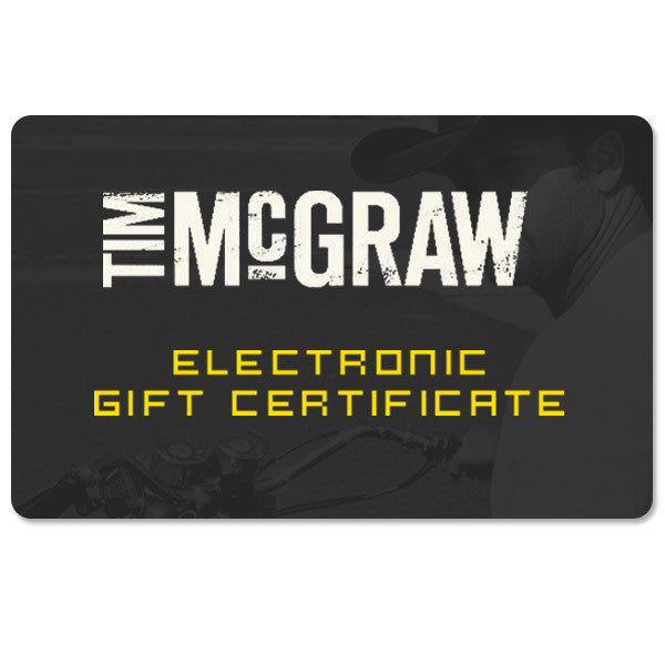Tim McGraw Store Gift Card