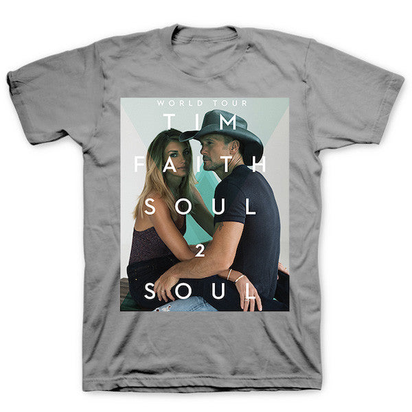 Soul2Soul Tour Grey Triangle T-Shirt