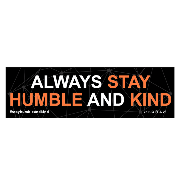Humble and Kind Car Decal
