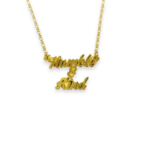 Humble and Kind Gold Necklace