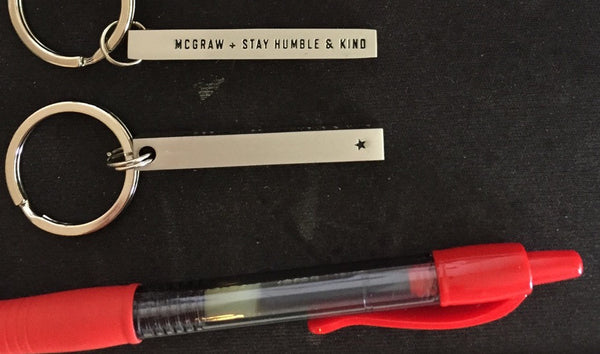 Stay Humble & Kind Block Keychain