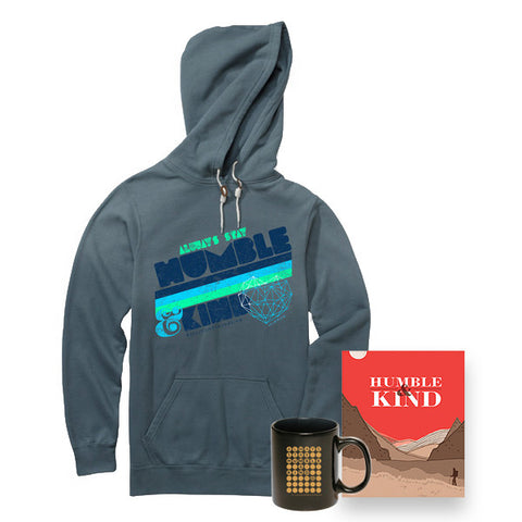 Humble & Kind Book, Premium Hoodie, and Mug