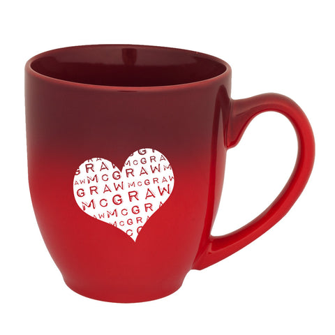 McGraw Heart Gradient Red Mug