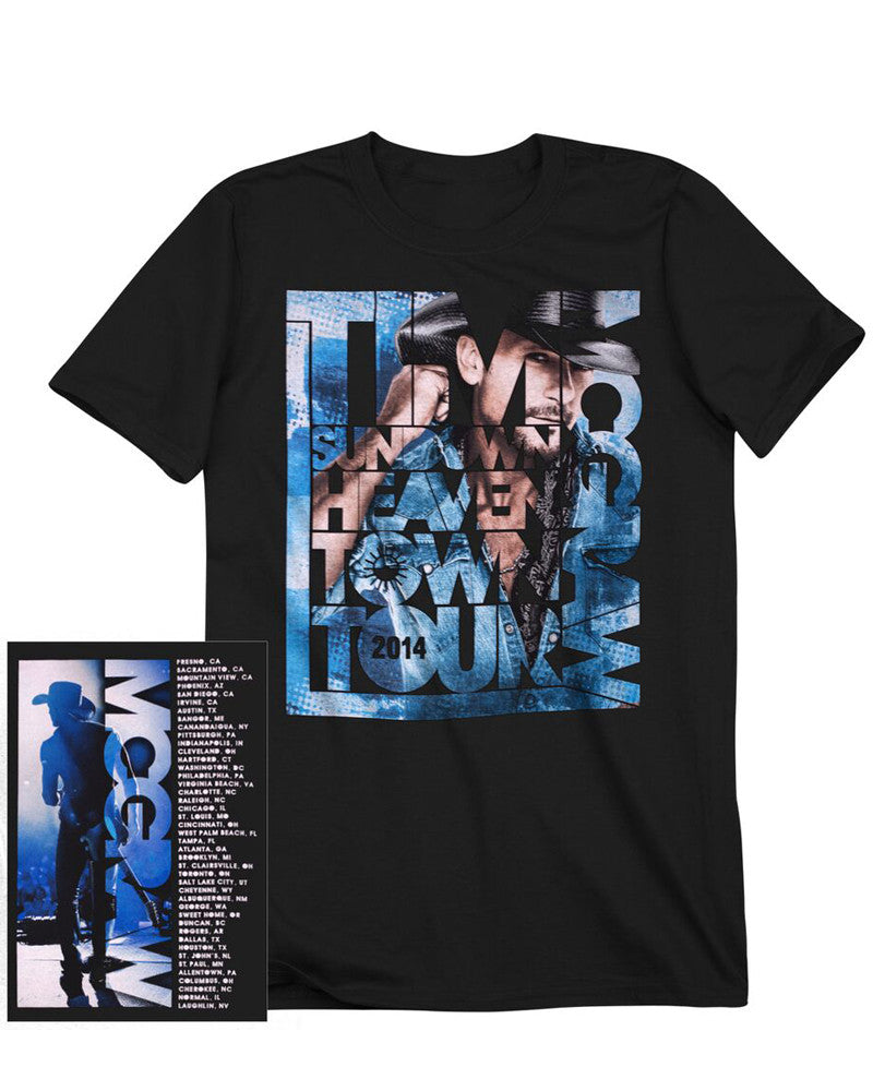 Sundown Heaven Town Tour Puzzle T-shirt