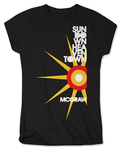 Sundown Heaven Town Ladies T-shirt