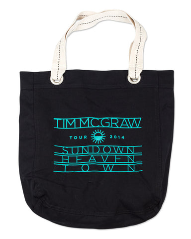 Sundown Heaven Town Black Tote Bag