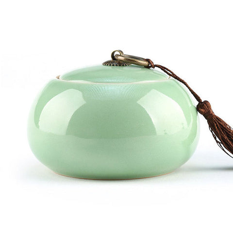 Celadon tea caddy *ONLY 1 left!