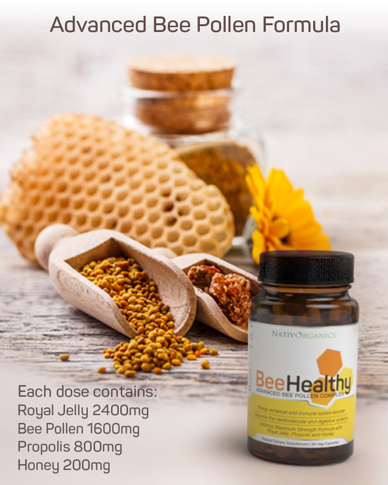Royal Jelly, Propolis & Royal Jelly Bee Pollen Capsules