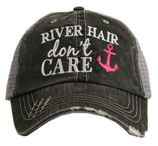 River Hair Don't Care -Anchor Design- Trucker Hat