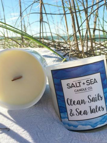 Clean Sails & Sea Tales 10oz Soy Candle