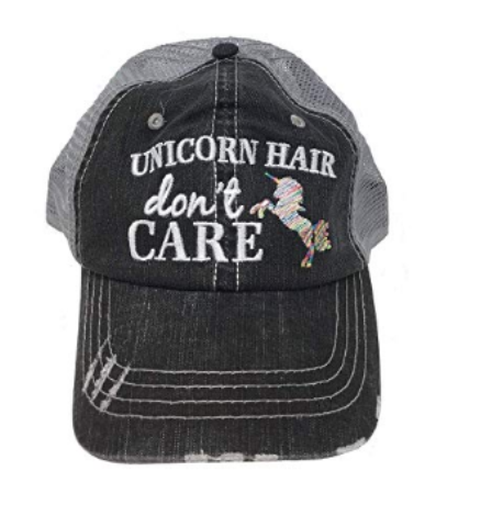 d31e5a4024bab Unicorn Hair Don t Care Trucker Hat