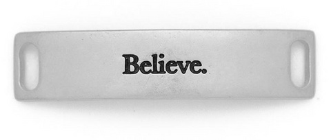 """Believe"" Matte Silver Sintement"