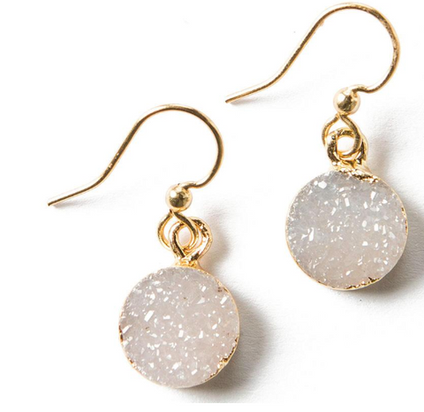 Vera Druzy Earrings Greige