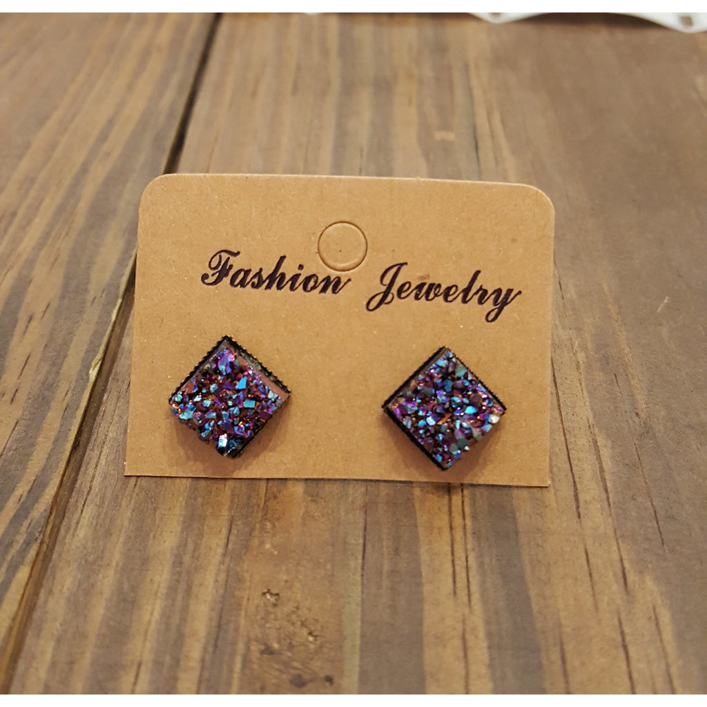 Druzy Glitter Earrings