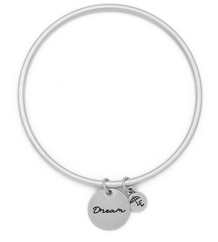 """Dream"" Token Bangle Silver"