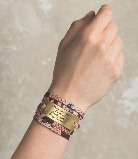 Python Blush Leather Wrap