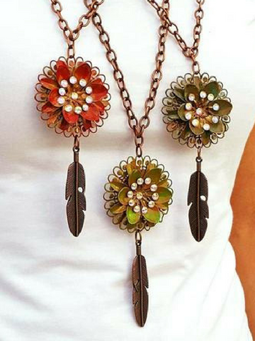 Flower & Chain Necklace