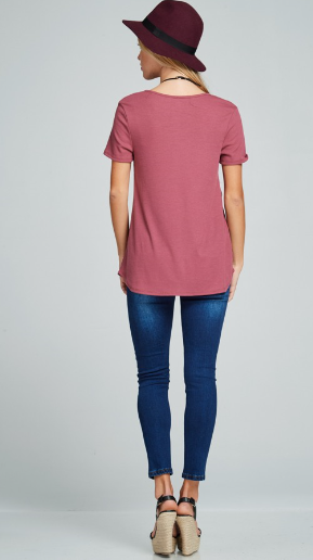 Cross Neck Shirt