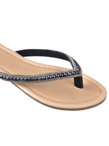 Pearly Black Sandal