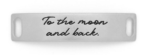"""To the moon and back"" Sentiment Silver"