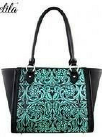 Turquoise Delila 100% Genuine Leather Tooled Collection