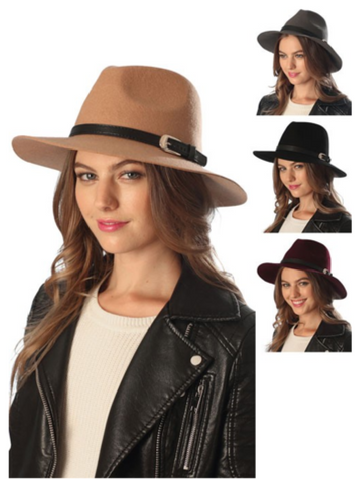 Fedora Hat with Buckle