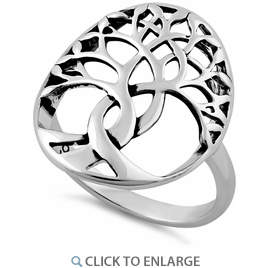 Sterling Silver Intertwined Tree Of Life