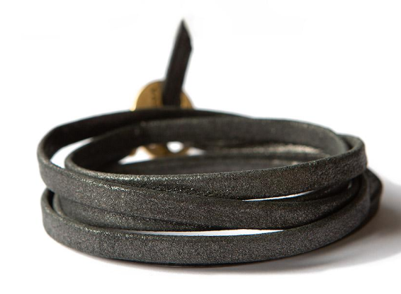 Leather Wrap Silver