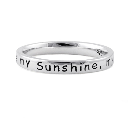 You are My Sunshine Sterling Silver Ring