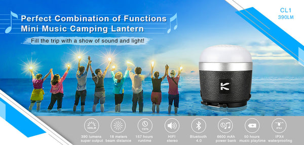 Klarus CL1 Blueooth Speaker Lantern Powerbank