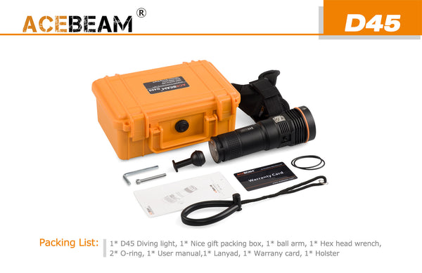 Acebeam D45vn Diving & All Weather